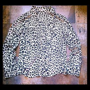 Express Portofino leopard blouse